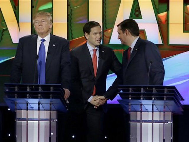 Rubio, Cruz pile on Trump during Houston debate