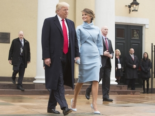 Melania Trump wore Ralph Lauren to inauguration