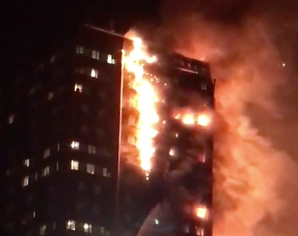 30 taken to hospitals after massive London high-rise blaze