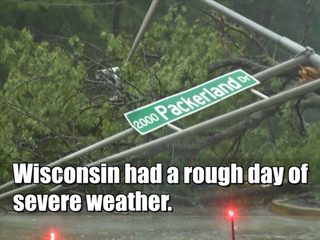 Wisconsin cleaning up after severe storms