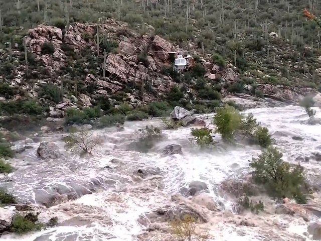 Arizona Hikers Stranded By Flooding Are Rescued