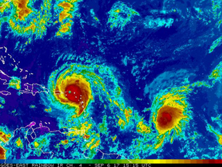 There are 3 hurricanes in the Atlantic
