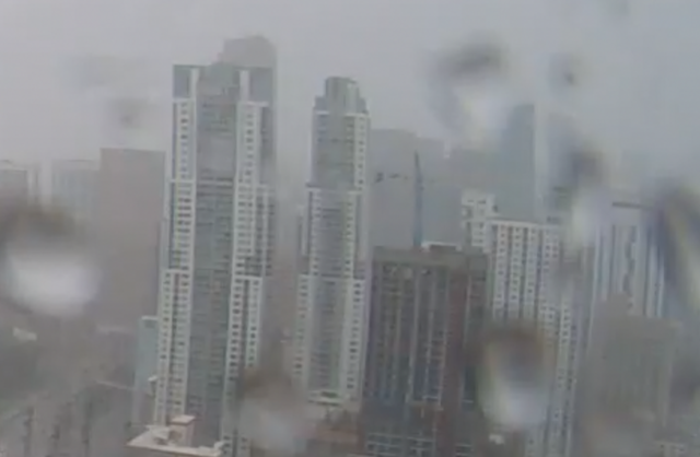 Cranes collapse as Hurricane Irma hits downtown Miami