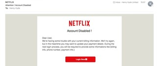 Watch out for this email scam targeting Netflix