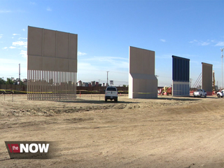 A peak at Trump's wall prototypes